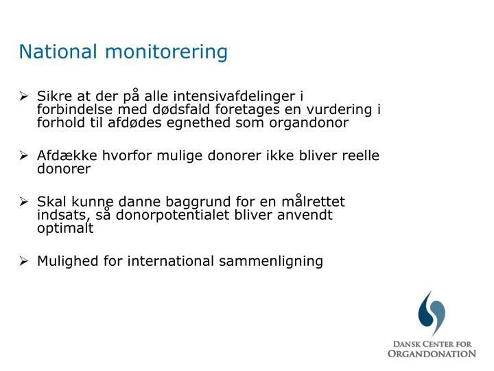 National monitorering