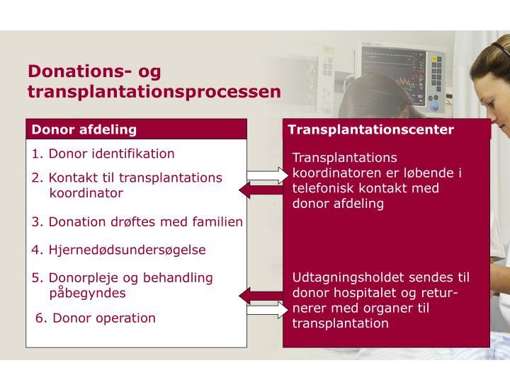 Donations- og transplantationsprocessen