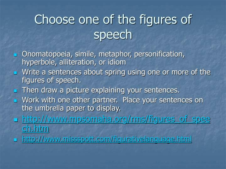 Choose one of the figures of speech