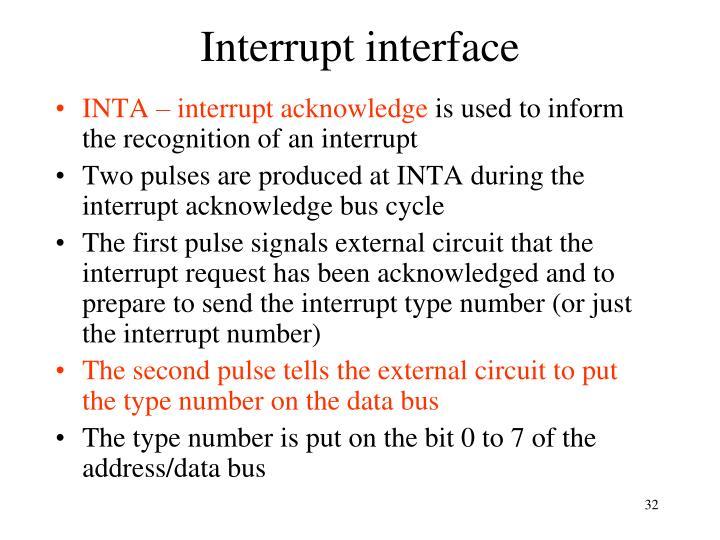 Interrupt interface