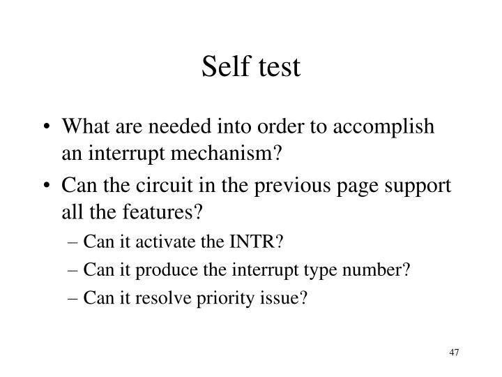 Self test