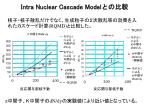 intra nuclear cascade model