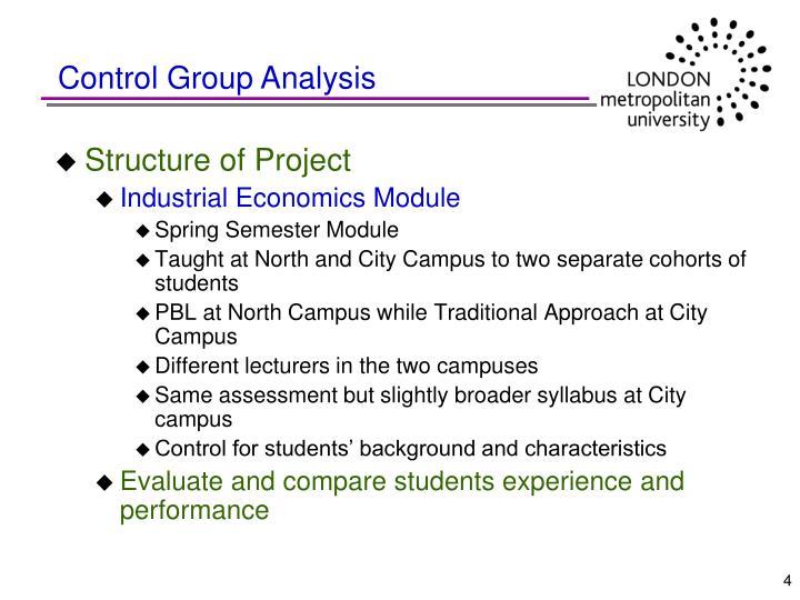 Control Group Analysis