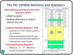 the pic 16f84a memory and registers2