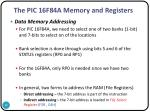 the pic 16f84a memory and registers7