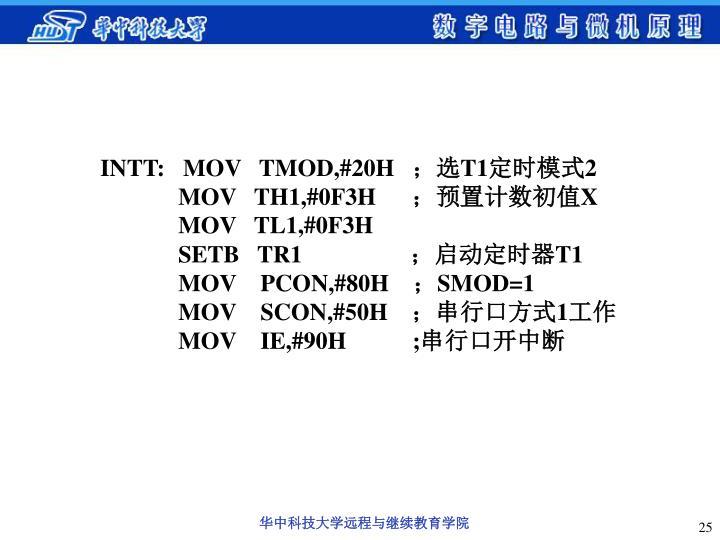 INTT:   MOV   TMOD,#20H
