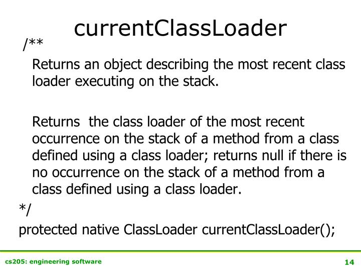 currentClassLoader