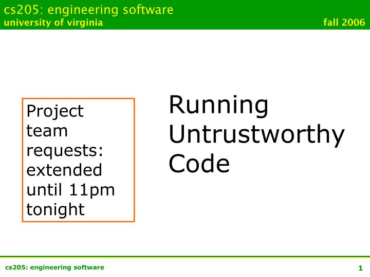 Cs205: engineering software