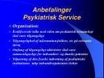 anbefalinger psykiatrisk service1