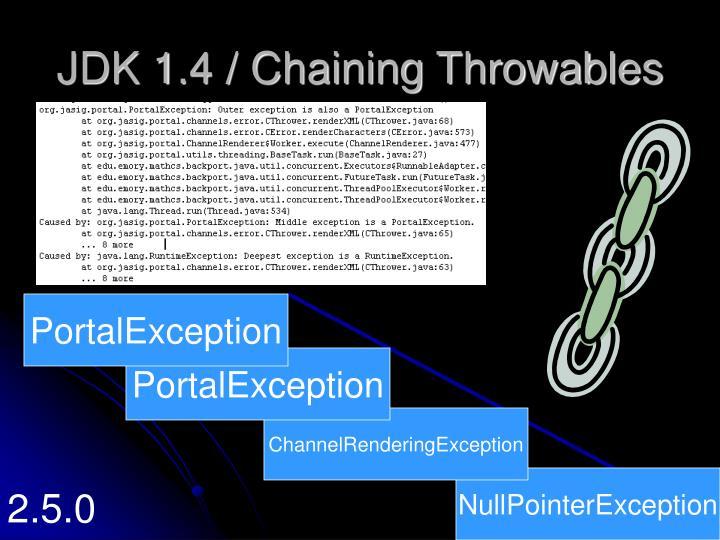 JDK 1.4 / Chaining Throwables