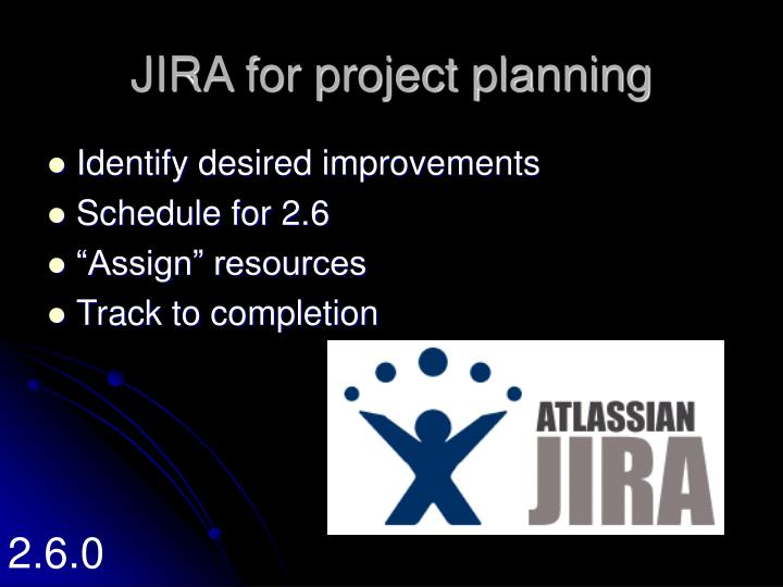 JIRA for project planning