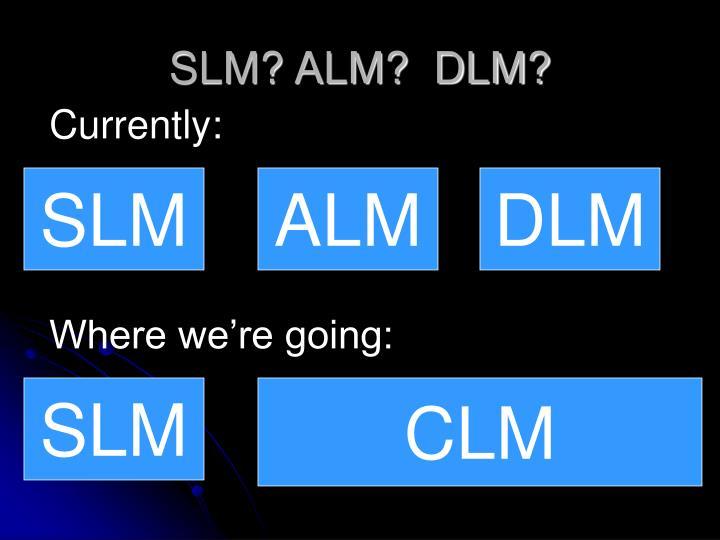 SLM? ALM?  DLM?