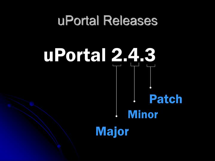 Uportal releases