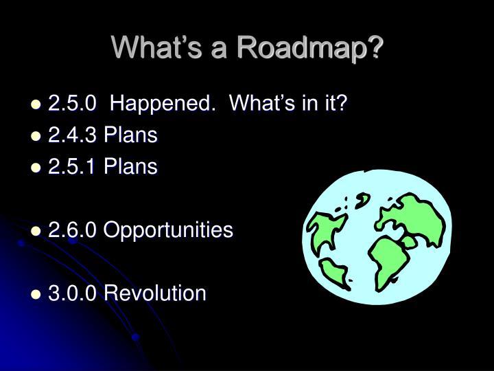 What's a Roadmap?