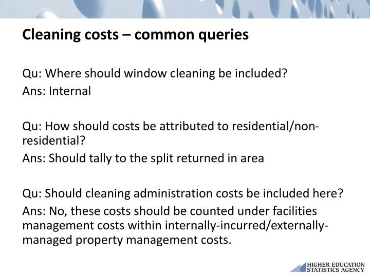 Cleaning costs – common queries