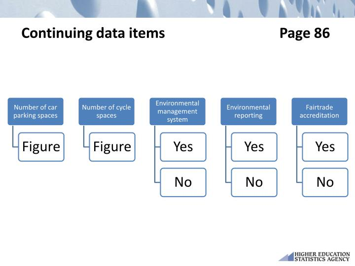Continuing data items                                Page 86