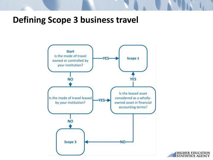 Defining Scope 3 business travel