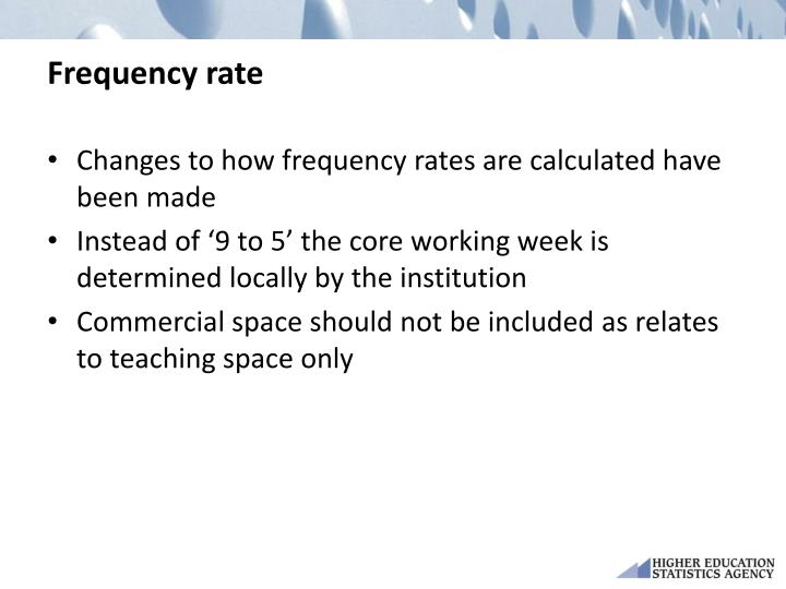 Frequency rate