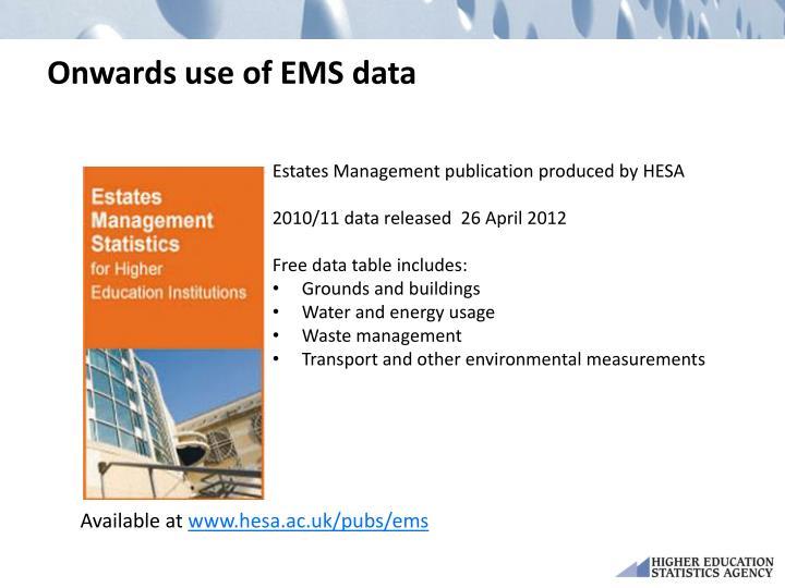 Onwards use of EMS data