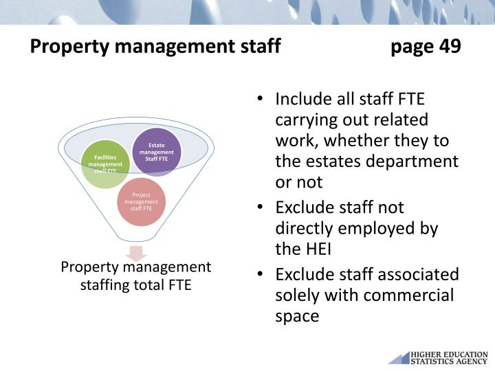 Property management staff                      page 49