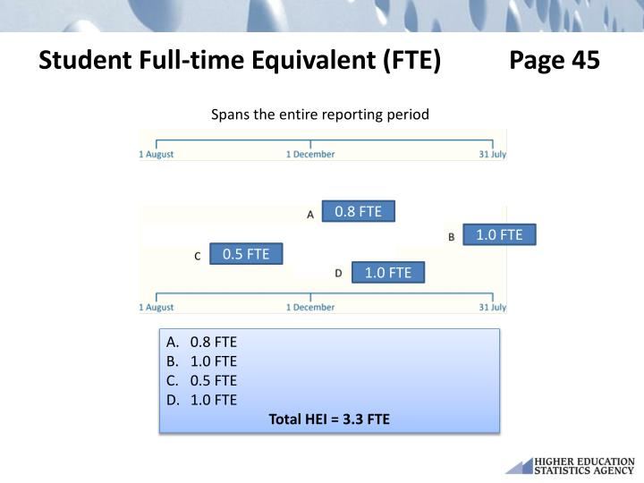 Student Full-time Equivalent (FTE)   Page 45