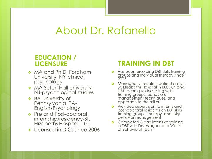 About Dr.