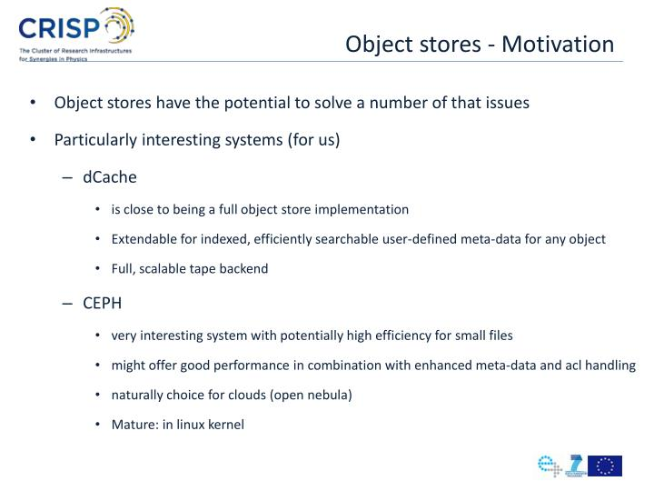 Object stores motivation1
