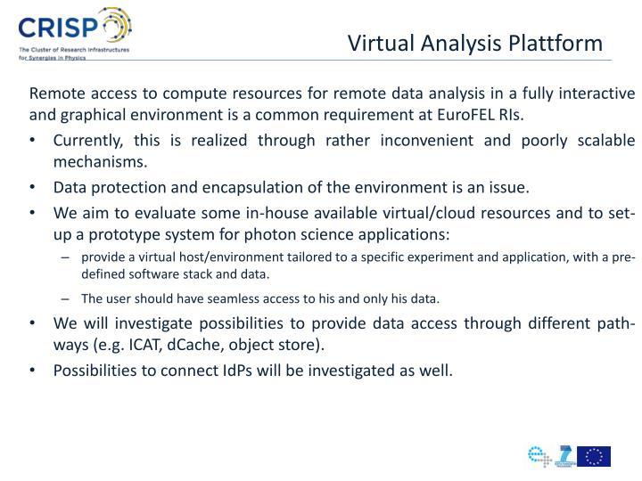 Virtual Analysis Plattform