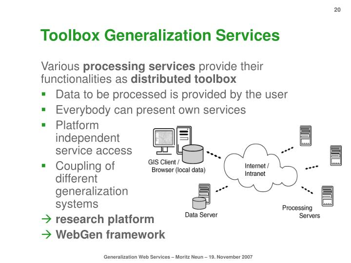 Toolbox Generalization Services