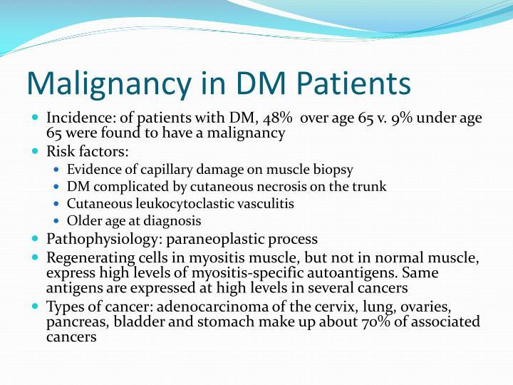 Malignancy in DM Patients