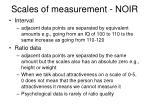 scales of measurement noir