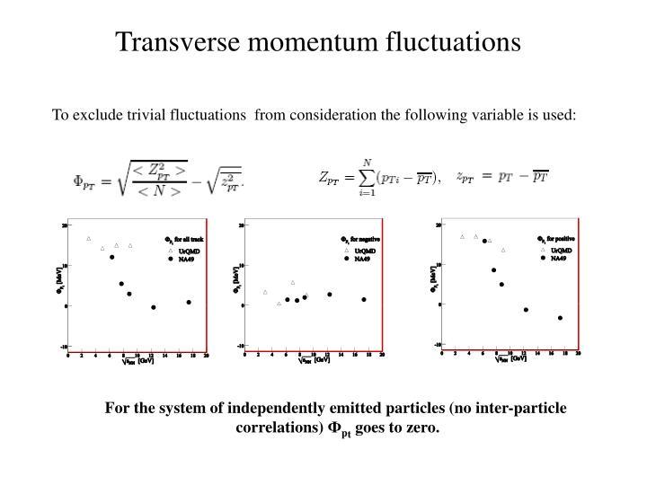 Transverse momentum fluctuations