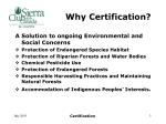 why certification1