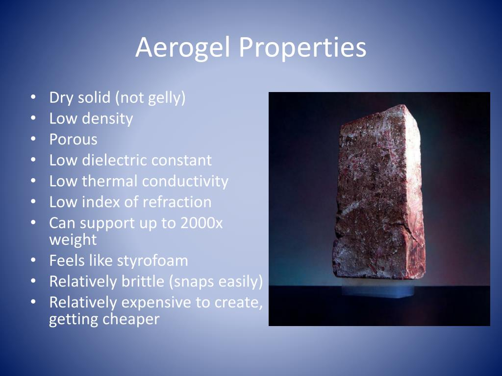 PPT - Aerogel- World's Lightest Solid PowerPoint