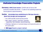 dedicated knowledge preservation projects