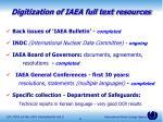 digitization of iaea full text resources