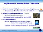 digitization of member states collections