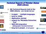 technical reports of member states iaea library