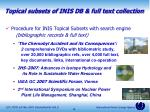 topical subsets of inis db full text collection