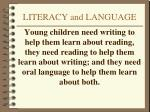 literacy and language