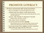 promote literacy