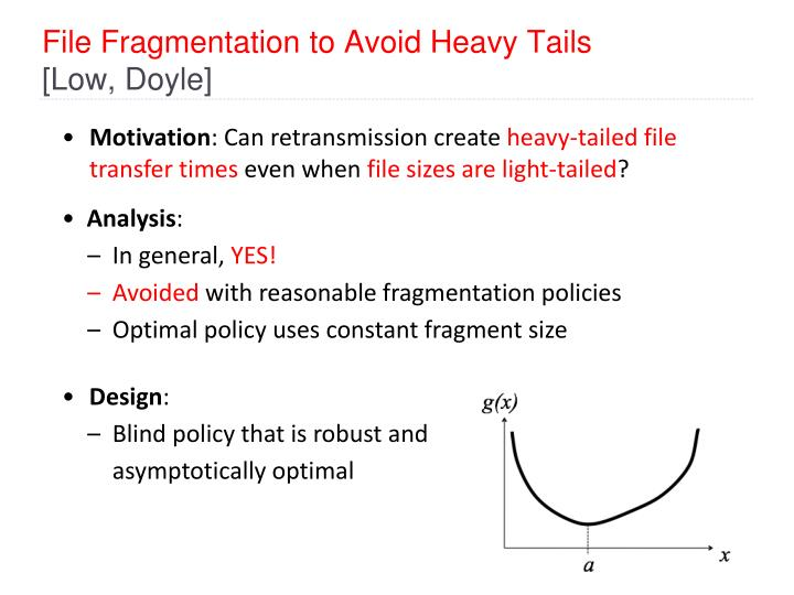 File Fragmentation to Avoid Heavy Tails