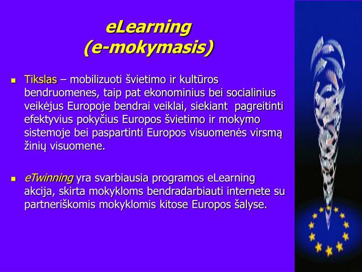 El earning e mokymasis