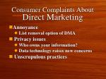 consumer complaints about direct marketing