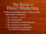 the world of direct marketing