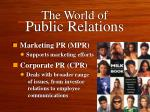 the world of public relations