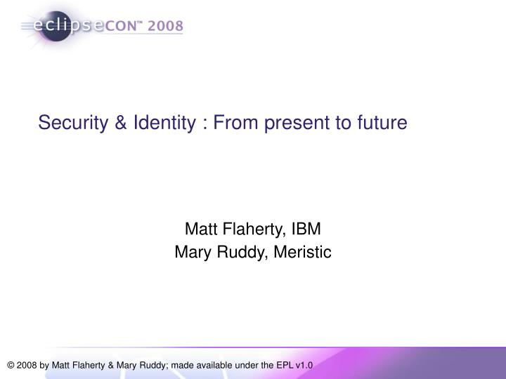 Matt flaherty ibm mary ruddy meristic