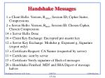 handshake messages
