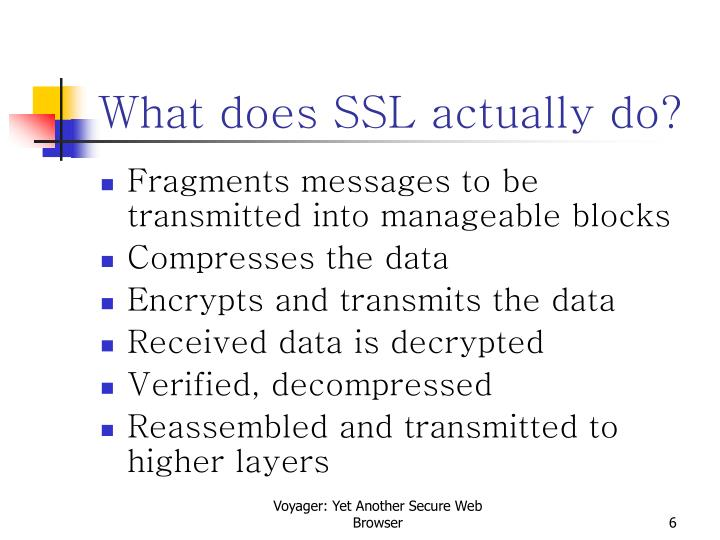 What does SSL actually do?