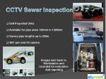cctv sewer inspection
